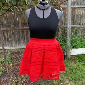 Torrid Pleated Lace Skirt - Size 2X